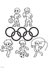 Disegno da colorare Giochi Olimpici