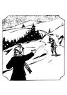 Disegno da colorare giochi sulla neve