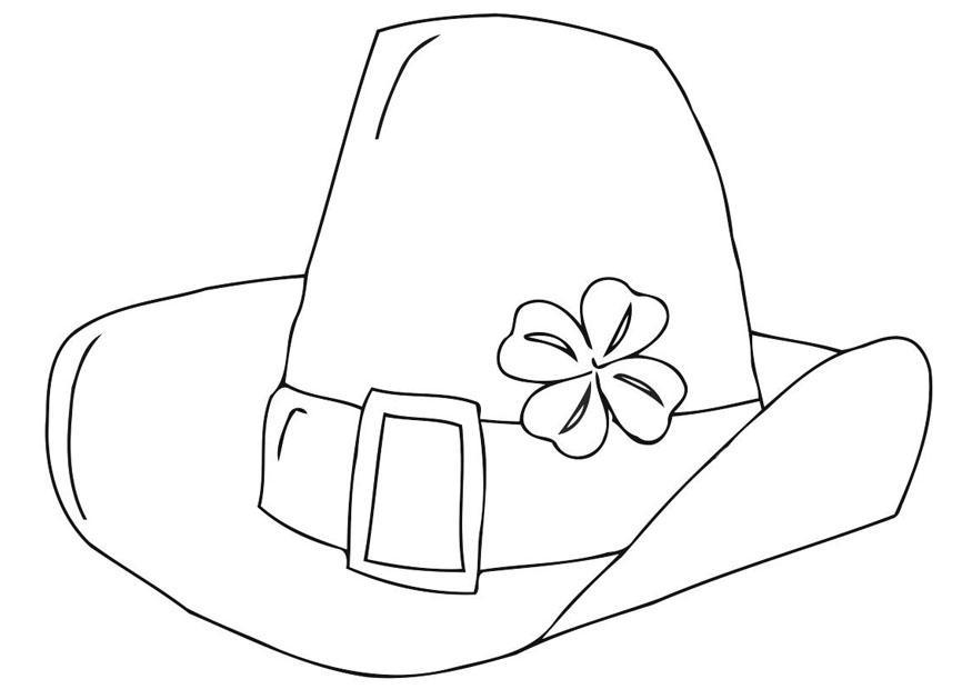 Disegno da colorare giorno di san patrizio cappello for Cappello disegno da colorare