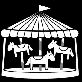 Carrousel Kleurplaat Disegno Da Colorare Giostre Cat 13427