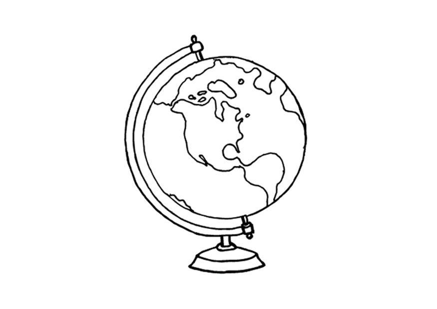 Disegno da colorare globo cat 15640 images for Disegno terra da colorare