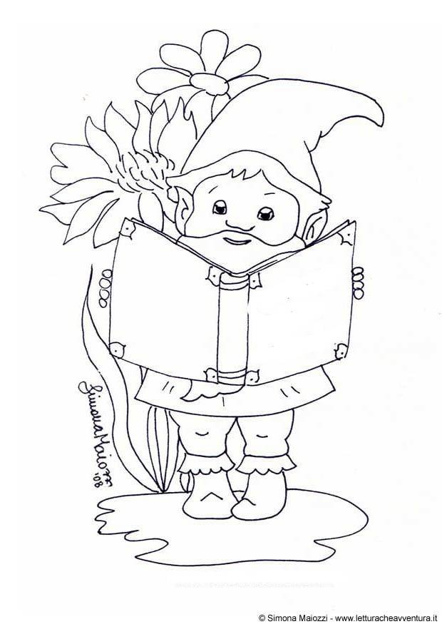 Disegno da colorare gnomo cat 12319 - Elfo immagini da stampare gratuitamente ...