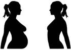 Disegno da colorare gravidanza