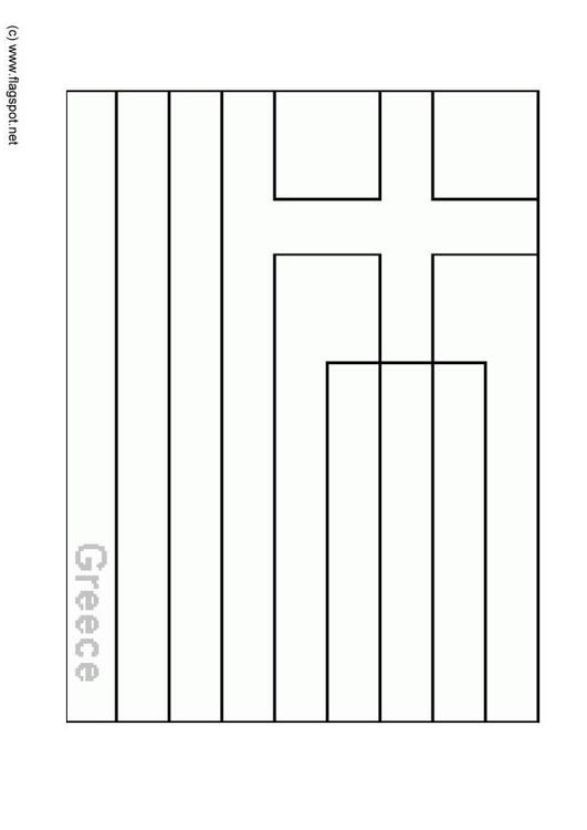 coloring pages for greek flags - photo#17