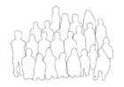 Disegno da colorare gruppo di persone - classe