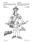 Disegno da colorare guerriero iroquois