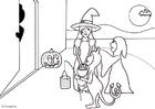 Disegno da colorare halloween dolcetto o scherzetto