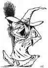Disegno da colorare Halloween - strega