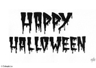 Disegno da colorare happy Halloween