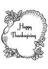 Disegno da colorare Happy Thanksgiving