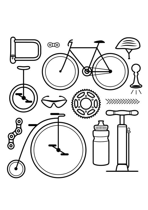 Disegno da colorare icone bicicletta disegni da for Bicicletta immagini da colorare
