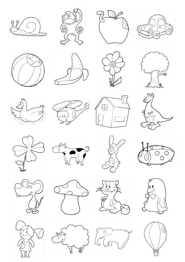 spesso Disegno da colorare icone per bambini piccoli - Cat. 20709. SN85