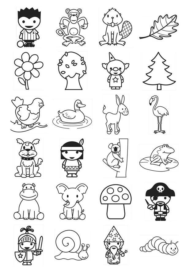 Ben noto Disegno da colorare icone per bambini piccoli - Cat. 21103. ZI78