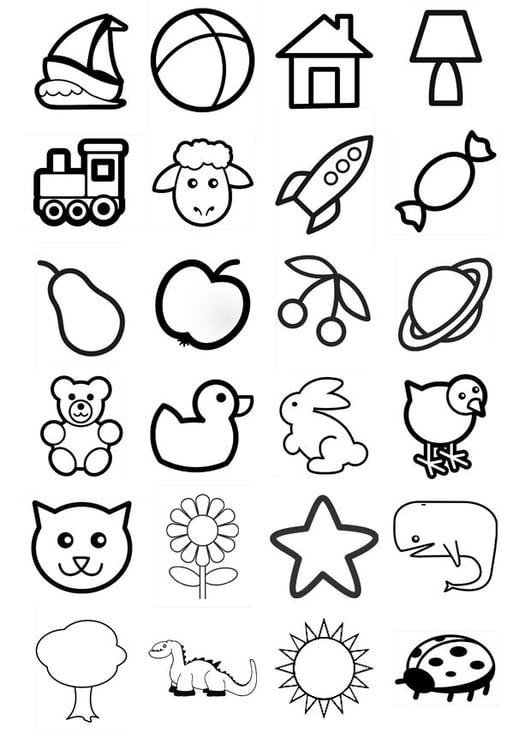 Disegno Da Colorare Icone Per Bambini Piccoli Cat 20549 Images