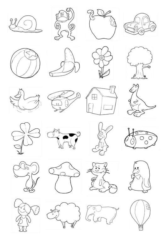Disegno Da Colorare Icone Per Bambini Piccoli Cat 20709