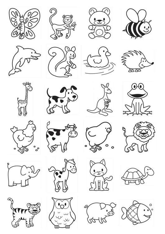 Amato Disegno da colorare icone per bambini piccoli - Cat. 20781. AU91
