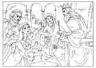 Disegno da colorare il giudizio di Salomone