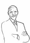 Disegno da colorare Il presidente Barack Obama
