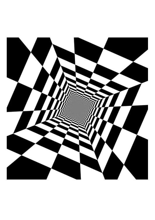 Disegno Da Colorare Illusione Ottica Cat 29252