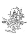 Disegno da colorare immagine Budda