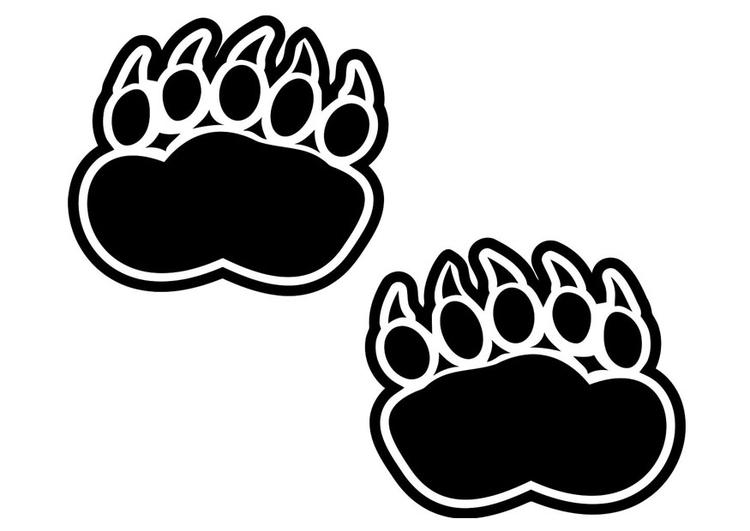 Disegno da colorare impronta orso cat 20701 for Cabina di montagna grande orso