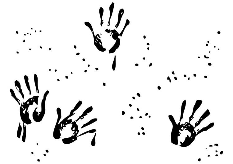 disegno da colorare impronte di mani  disegni da colorare