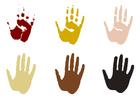 Disegno da colorare impronte di mani