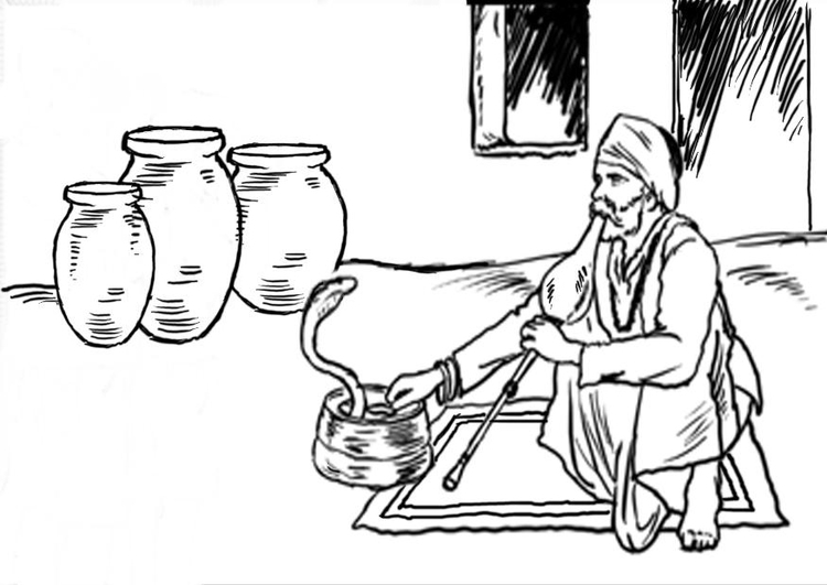 Disegno Da Colorare Incantatore Di Serpenti Cat 7663