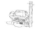 Disegno da colorare incidente in macchina