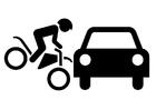 Disegno da colorare incidente stradale