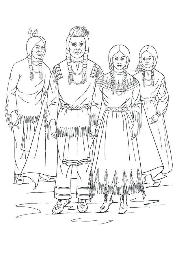 Disegno Da Colorare Indiani Nimipu Cat 9909