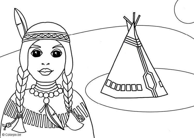 Disegno Da Colorare Indiano Cat 5687