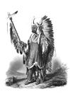 Disegno da colorare indiano - pellerossa
