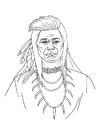Disegno da colorare Indiano