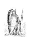 Disegno da colorare indiano Sioux