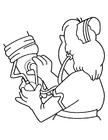 Disegno da colorare infermiera