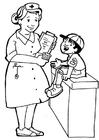 Disegno da colorare infermiere