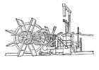 Disegno da colorare ingranaggio per nave a vapore