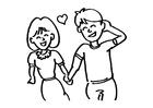 Disegno da colorare innamorati