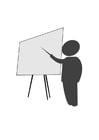 Disegno da colorare insegnante