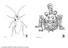 Disegno da colorare insetti