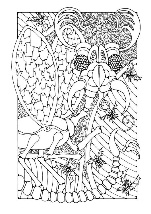 Disegno Da Colorare Insetto Di Fantaasia Cat 25653