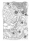 Disegno da colorare insetto di fantaasia