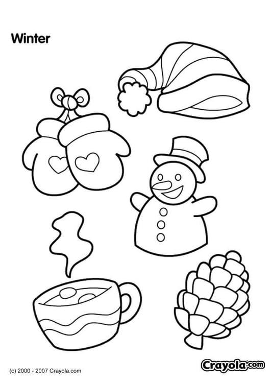Disegni Da Colorare Invernali.Disegno Da Colorare Inverno Disegni Da Colorare E Stampare Gratis