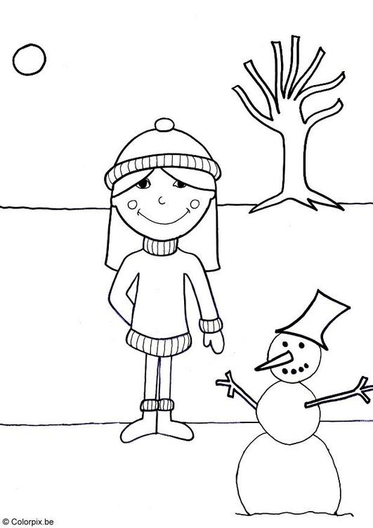 Disegno Da Colorare Inverno Cat 13696