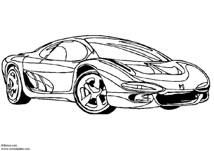 Kleurplaten Auto Printen.Raceauto Kleurplaat Printen Zeichnung Des Autos Vektor Abbildung