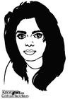 Disegno da colorare Janet Jackson