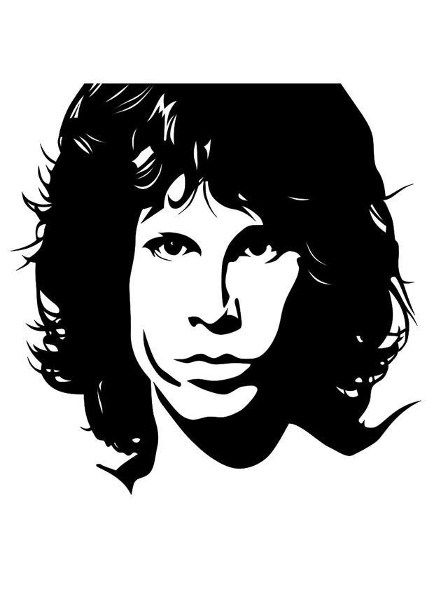 Disegno Da Colorare Jim Morrison Cat 22433 Images