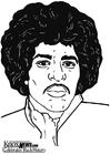 Disegno da colorare Jimi Hendrix