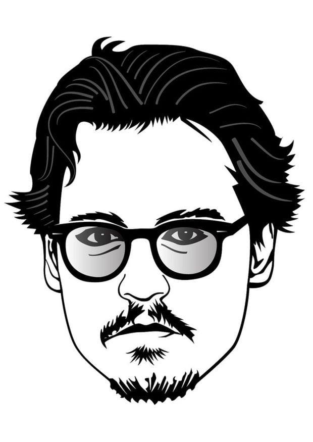 Disegno Da Colorare Johnny Depp Cat 24674 Images